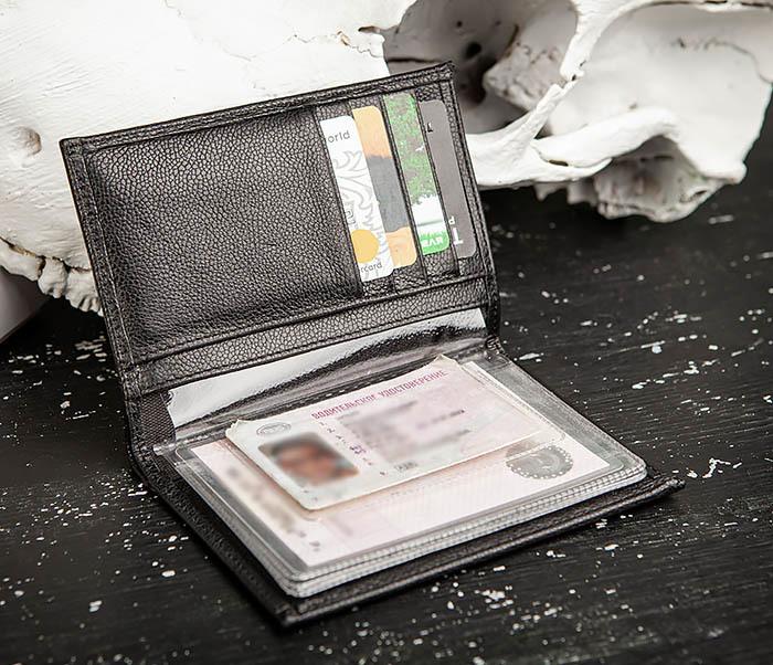 WL319-1 Бумажник автомобилиста для купюр, документов и карт, «Santini» фото 07