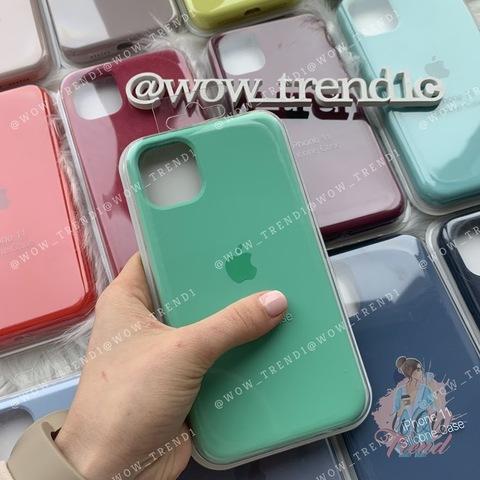Чехол iPhone 11 Silicone Case Full /spearmint/