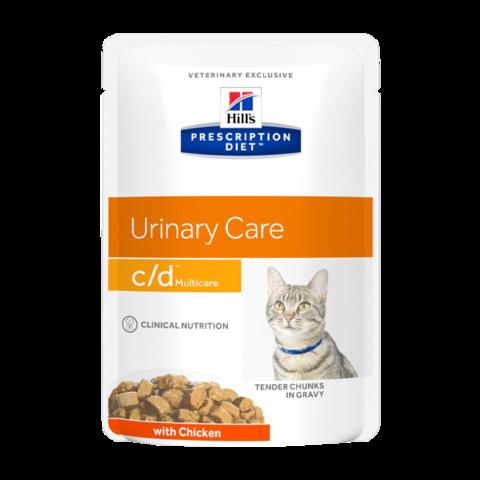 Hill's Prescription Diet C/D Консервы для кошек при МКБ струвиты (пауч)