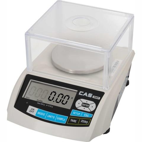 Весы лабораторные/аналитические CAS MWP-600, LCD, АКБ, 600.02, 600гр, 0,02гр, Ø116 мм, с поверкой, высокоточные
