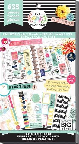Блокнот со стикерами для ежедневника Value Pack Stickers - Empowering Woman- 635 шт