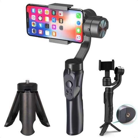 Стедикам-стабилизатор-монопод для смартфона 3х осевой F6 Handheld Gimbal 3-Axis черный