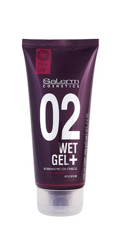 Гель средней фиксации  с эффектом мокрых волос,Salerm,200 мл.