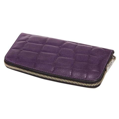 Маникюрный набор Erbe, 6 предметов, цвет фиолетовый, кожаный футляр