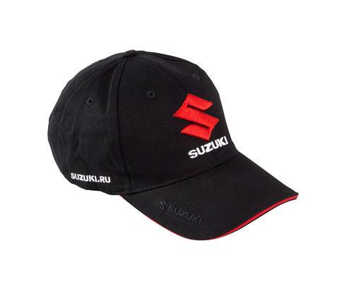 Бейсболка Suzuki, черная, 3D вышивка