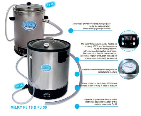 Устройство пастеризатора молока Milky FJ 30, Австрия, 30 литров