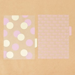 Набор ацетатных разделителей для планера «Розовые облака», 6 листов, 16 × 25 см