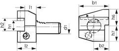 Держатель резца Форма B4 радиальная левая, короткая
