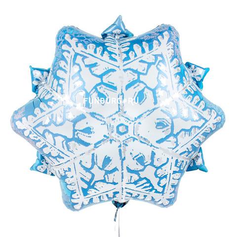 Шар Снежинка голубая 45 см