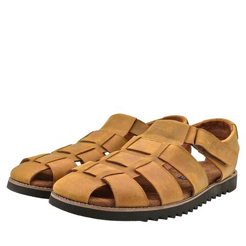 550210 сандалии мужские охра. КупиРазмер — обувь больших размеров марки Делфино
