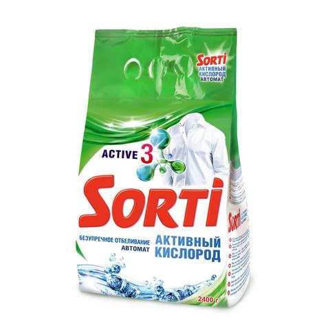 Порошок стиральный Sorti автомат Активный кислород для белого белья 2,4 кг