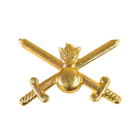 Эмблема петличная Сухопутные войска, металл. золотой