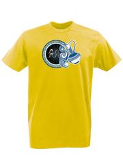 Футболка с принтом Знаки Зодиака, Водолей (Гороскоп, horoscope) желтая 005