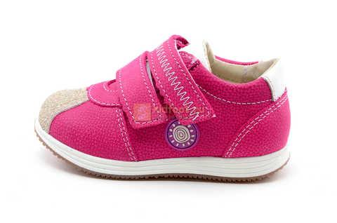 Ботинки для девочек Лель (LEL) из натуральной кожи на липучках цвет фуксия. Изображение 3 из 17.