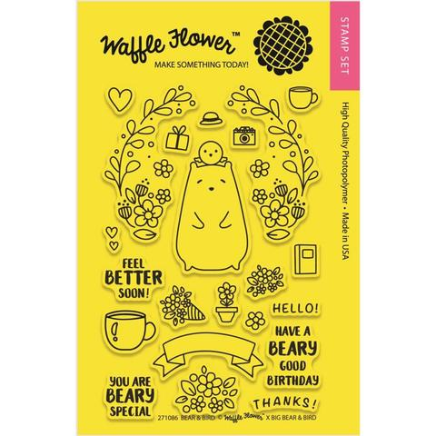 Набор штампов Waffle Flower Crafts Clear Stamps - Bear & Bird