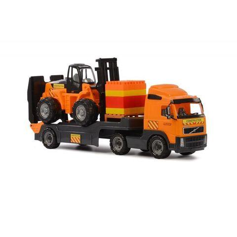 """Volvo"", автомобиль-трейлер + автокар + конструктор ""Супер-Микс"" - 30 элементов на поддоне (в коробке)"