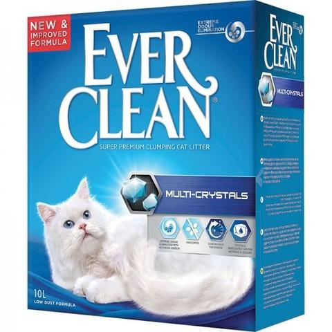 EVER CLEAN Комкующийся наполнитель с добавлением кристаллов (синяя полоса) Multi Crystal Blend