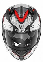 Мотошлем Shark Ridill Stratom, серый/красный