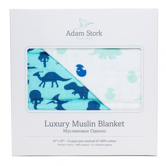 Dino World&Adam Stork одеяло муслин