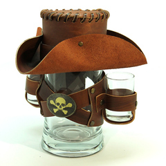Сувенирная кружка Пират, коричневая, фото 1