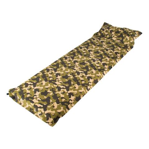 Купить самонадувающийся туристический коврик с подушкой Helios (HS-005C КМФ)