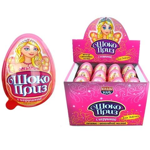 Печенье с шоколадной пастой и игрушкой ШОКОПРИЗ для девочек 1кор*12бл*24шт,15гр