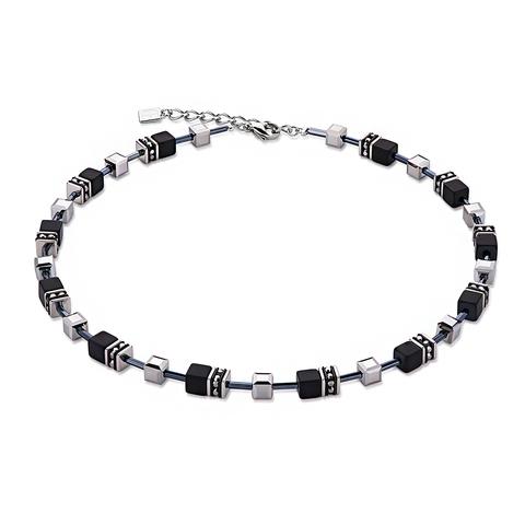 Колье Coeur de Lion 4015/10-1317 цвет серебряный, чёрный