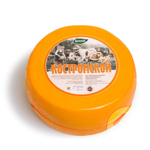 Сыр ВОХМА Комстромской 45%  МОЛОЧКА ИП ГЛАДИЙ 1кг