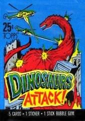 Dinosaurs Attack Collector Cards Pack    Коллекционные карточки Динозавры Атакуют 1988 год
