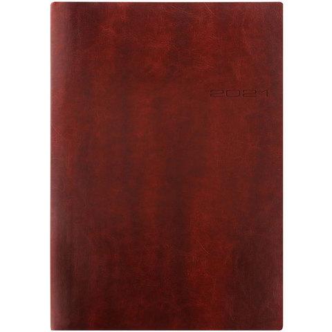 Еженедельник Letts Lecassa A4 (412 159080) кремовые стр гибкая обложка коричневый