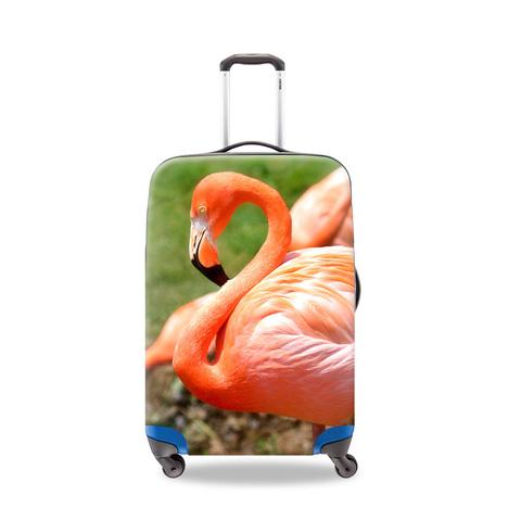 Чехол для чемодана - Фламинго