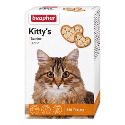 купить бефар Beaphar Kitty`s+Taurine+Biotin кормовая добавка для кошек с таурином и биотином