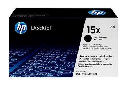Оригинальный картридж HP C7115X №15X черный