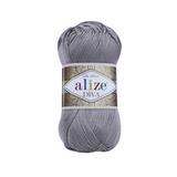 Пряжа Alize Diva 348 темно-серый