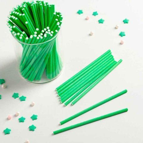 Палочки для кейкпопсов Зеленые 15 см/100 шт Китай