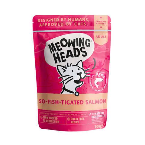 купить паучи для кошек и котят Баркинг Хедс Meowing Heads Фиш-гурман