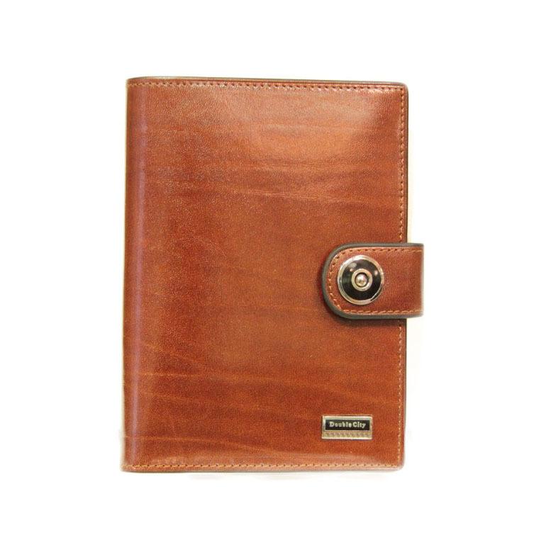 Солидное рыжее мужское портмоне для денег и автодокументов из натуральной гладкой качественной итальянской кожи 027-DC9-07B