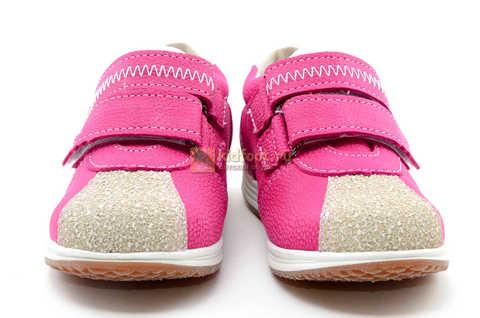 Ботинки для девочек Лель (LEL) из натуральной кожи на липучках цвет фуксия. Изображение 5 из 17.
