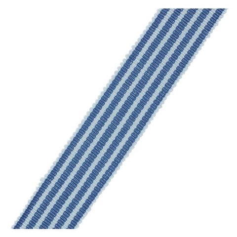 Лента репсовая № 7431 -GROS GRAIN CHAMBRAY RAYE