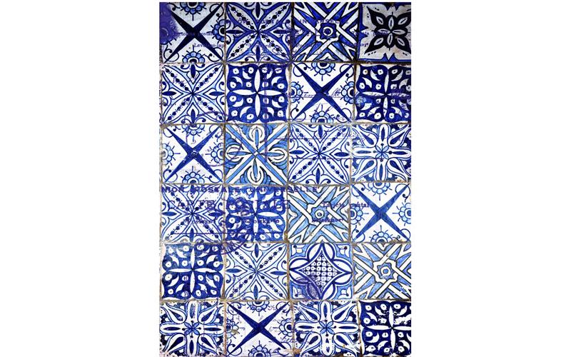 Рисовая бумага для декупажа Голубая плитка, А3