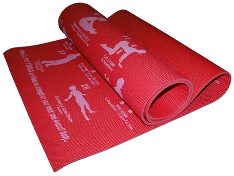 Коврик для йоги. Цвет красный. RW-6-К  (Красный)