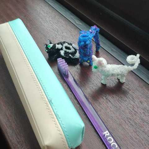 Фотография Зубная щетка - конструктор «Новый герой» с кошками купить в магазине Афлора