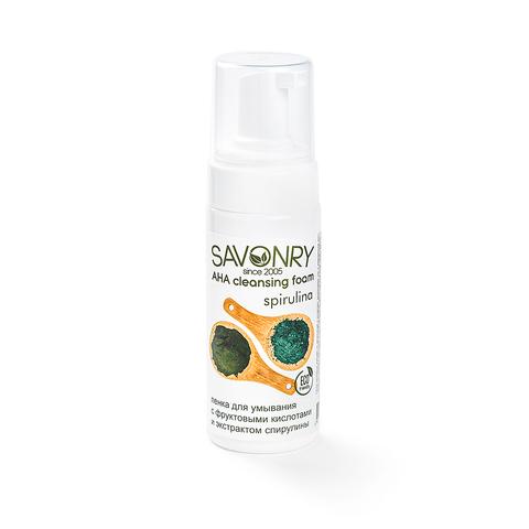Пенка для умывания с АНА-кислотами Спирулина | Savonry