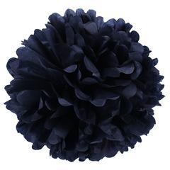 Помпон из бумаги, 40 см, черный