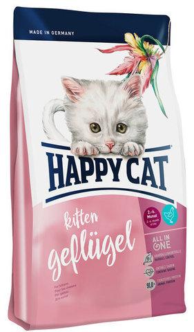 купить Happy Cat Supreme Kitten Geflugel сухой корм для котят с 5-и недель до 6 месяцев с птицей