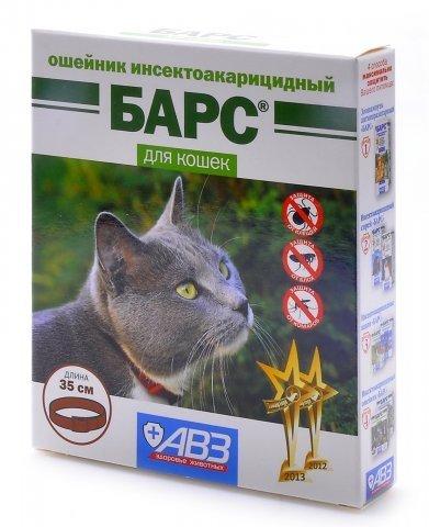 БАРС Ошейник для кошек от блох и клещей, 35 см