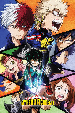 Постер My Hero Academia (Characters Mosaic) 212-PP34412
