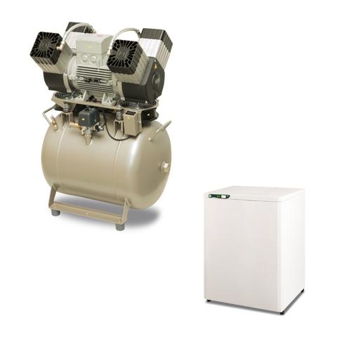 DK50 4VR/50 безмасляный компрессор (2 установки) Ekom