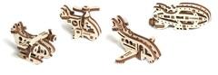 Фиджеты Самолеты (4 шт.) (Ugears) - Деревянный конструктор, сборная модель, 3d пазл
