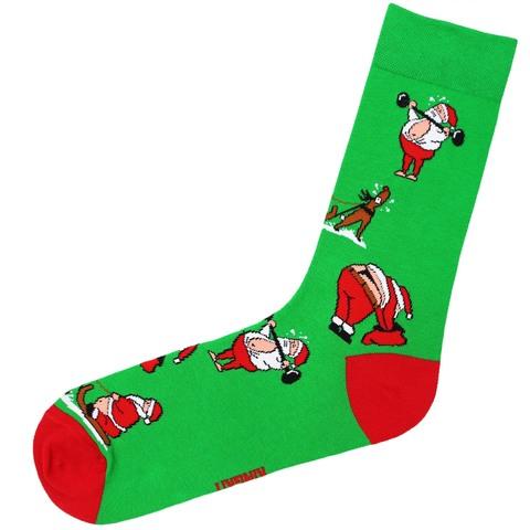 Носки Санта зеленый